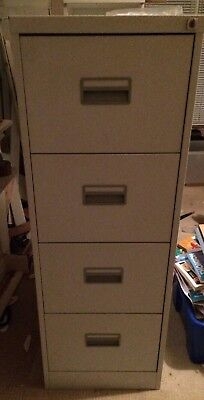 Grey Four Drawer Filing Cabinet - Locking