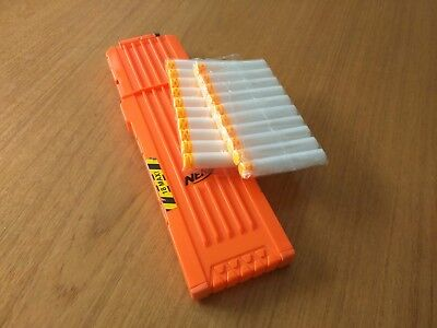 Nerf 18 Ammo Dart Clip Magazine with Waffle Darts - For N-Strike Elite Modulus