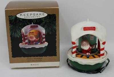 1993 Hallmark Magic (Light and Motion) Ornament Santa's Workshop