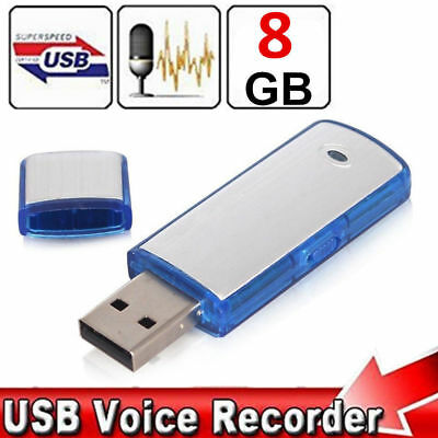 Mini 8GB Digital USB Dictaphone Voice Recorder Spy Listening Device Memory Stick