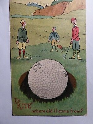 """Springvale Kite Bramble Golf Ball.  The """"Kite"""" Where Did It Come From ?  1906."""