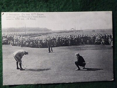 Fife.  Early Golf At St Andrews.  Harry Vardon Putts On 16th Green.  Open ?