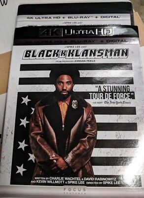 New BlacKkKlansman 2018 4k ULTRA HD & Blu-ray NO DIGITAL BLUERAY Comedy movie