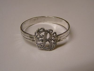 Napkin Ring with a ( Initial ( B  ) Sterling Silver
