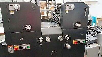 RYOBI 3302H Two Color Offset Printing Press/AB Dick 9995.Plate Punch.Super Blue