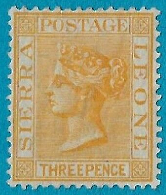 + 1892 Sierra Leone West Coast of Africa Queen Victoria #28 A2 3d MH unused