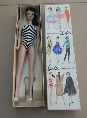 RARE VINTAGE COLLECTIBLE 1959 PONY TAIL BARBIE DOLL STOCK No.  850 IN ORIGINAL B