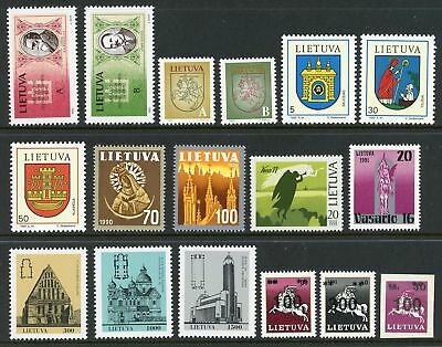 Lithuania Assortment #4 MNH Independence Arms Religion Churches $$