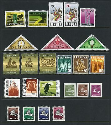 Lithuania Assortment #5 MNH Independence Arms Religion Churches $$