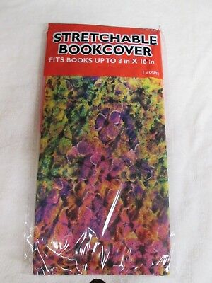 "NEW Stretchable Fabric Book Cover  8"" x 10""  Abstract Floral"