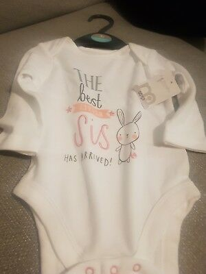 baby girls brand new with tagslong sleeved vest.from mothercare 3-6 months