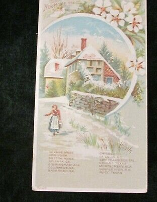 1890s Victorian Advertising Trade Card New Home Sewing Machine