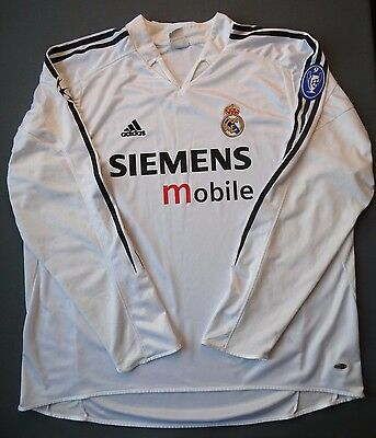 54c31397c 5 5 Real Madrid 2004~2005 Cup Adidas Football Soccer Long Sleeve Jersey  Shirt