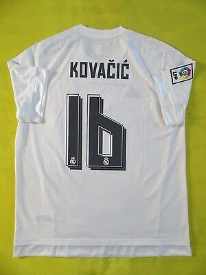 5+ 5 Real Madrid  16 Kovacic 2015 2016 Original Jersey Shirt Camiseta be7978a35d882