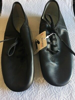 Little Girls Size 5.5 Danskin Now Black Leather Lace Up Jazz Shoes Hip Hop