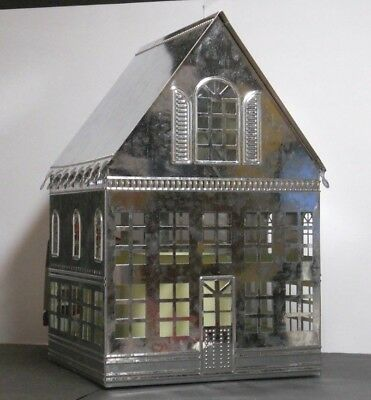 Nwt Hallmark Metal Light-Up House~ Flameless Candle~ Christmas Holiday Decor