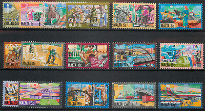 Malta 1981 History of Maltese Industry set of 16 SG667-682 used