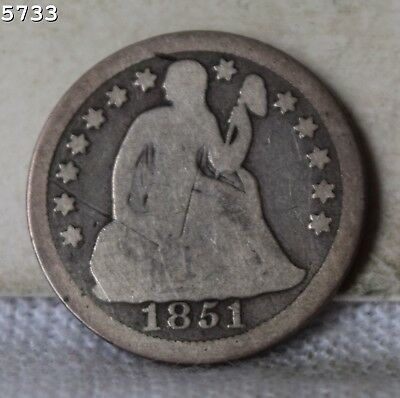 1851 Liberty Seated Dime *Free S/H After 1st Item*
