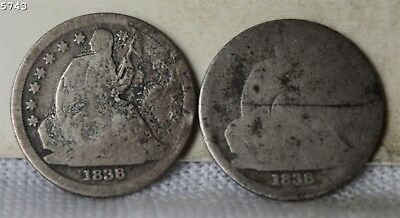1838-P,O Liberty Seated Dime *Free S/H After 1st Item*