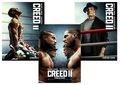 CREED 2: Rocky Balboa, Ivan Drago, Creed A5 A4 A3 Movie Posters