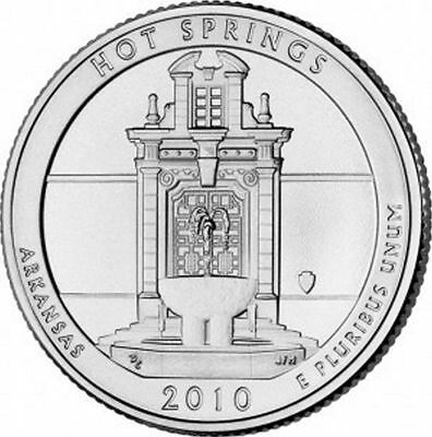 2010 S Silver Gem Proof Hot Springs America The Beautiful Quarter 90% Silver