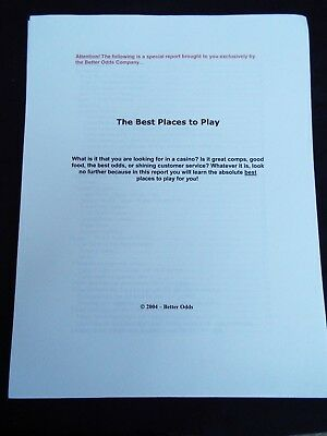 The BEST PLACES TO PLAY Casino Gambling Strategy Guide 2004 by Better Odds