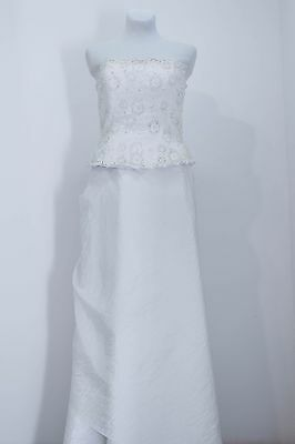 Size 12 La Sposa Wedding Dress Corset A-Line Sleeveless Beaded True Vintage