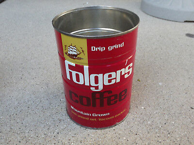 Vintage Folgers's 1 Lb Coffee Can No Lid