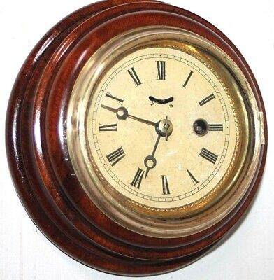 """ANTIQUE 1860's RARE """"LAPORTE HUBBELL"""" CARVED MAHOGANY 30 HOUR LEVER WALL CLOCK."""