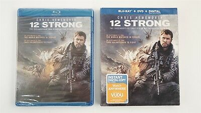 12 Strong (2018, 2-Disc Set) Blu-ray + DVD + Digital Copy in Slip Cover - Sealed
