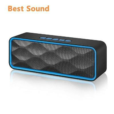 Portable Stereo Wireless Bluetooth Speaker HD Audio Mega Bass for iPhone Samsung