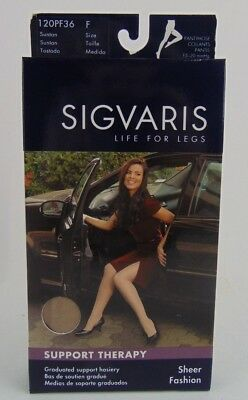 Sigvaris Women's Sheer Fashion 15-20 mmHg Pantyhose 120PF36 Size F