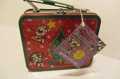 Powerpuff Girls Mini Christmas Lunchbox Tin New Nwt