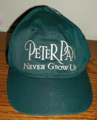 Peter Pan Never Grow Up Baseball Hat Cap Childs 7-10      !!!MUST SEE!!!