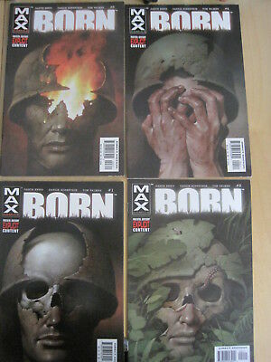 BORN : COMPLETE 4 ISSUE PUNISHER SERIES by GARTH ENNIS.EXPLICIT!.MARVEL MAX 2003