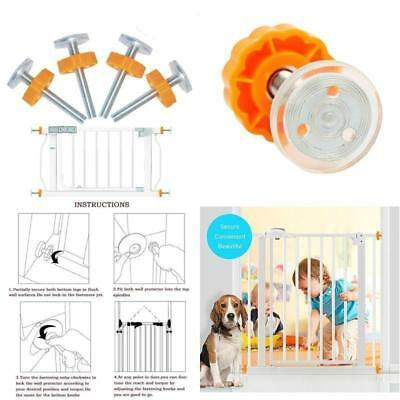 4PCS Baby Safety Stairs Gate Screws Bolt with Locking Nut Spare Part Home DS