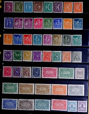 Germany: Classic Era Unused Stamp Collection Many Never Hinged