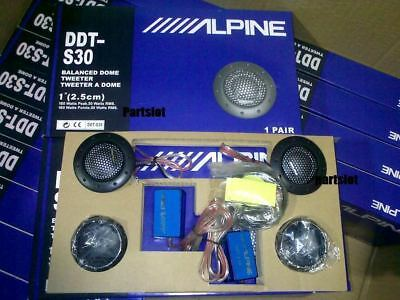 "DDT-S30 25MM 1"" 360W Dome Balanced Car Speakers Tweeters Crossovers New Alpine"