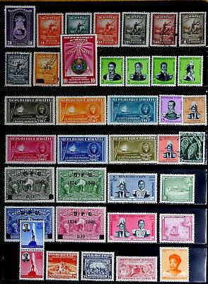 Haiti: 1940's To 50's Mostly Unused Stamp Collection With Sets
