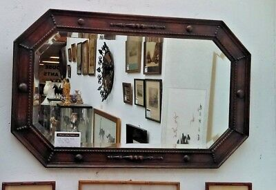 Early 20th century Octagonal Arts and Craft Beveled Mirror