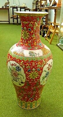 Stunning Very Large Vintage Oriental Vase or Umbrella Stand 68 cm tall