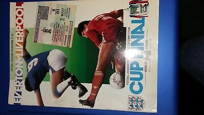 Everton v Liverpool 1986 FA Cup Final Programme & Ticket