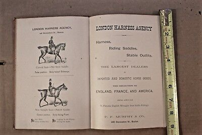 "1892 Boston USA London Harness Company Catalog Book: ""Stable Hints"" Carriages."