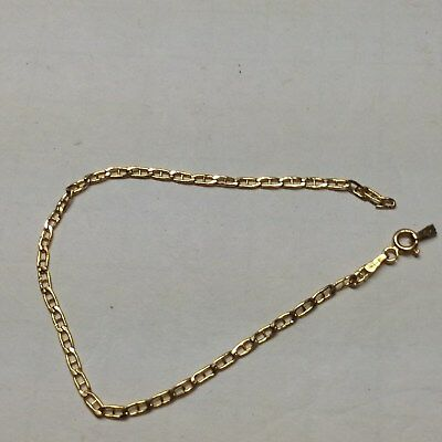 Solid 14K Gold Bracelet Scrap Repair 1.2 Grams 7 1/2 Inch Tested Free Shipping