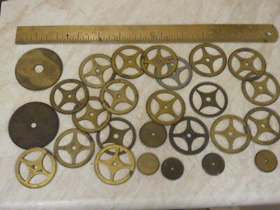 Useful Lot Clock Wheels Fusee-Longcase ??? For  Parts - Spares (A)