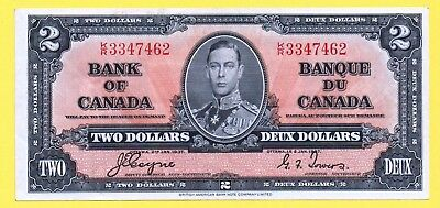 BANK OF CANADA 2 DOLLARS 1937 COYNE-TOWERS K/R Banknote BC-22c