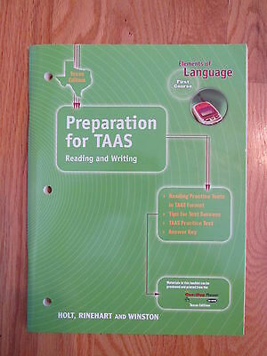 ELEMENTS OF LANGUAGE: FIRST COURSE 7th GRADE TASS PREP HOLT ISBN # 0-03-064251-5