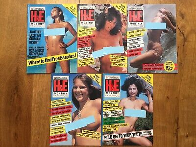 5 Vintage H & E Magazines All In Excellent Condition