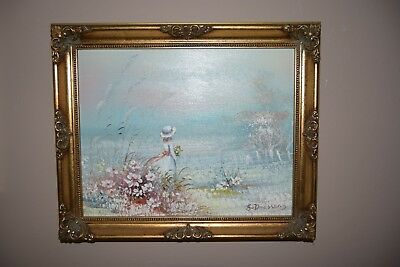 """Oil painting """"Stroll"""" in a beautiful frame."""