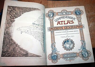 New Comprehensive Atlas Of Modern Geography William Mackenzie C, 1867 Hughes